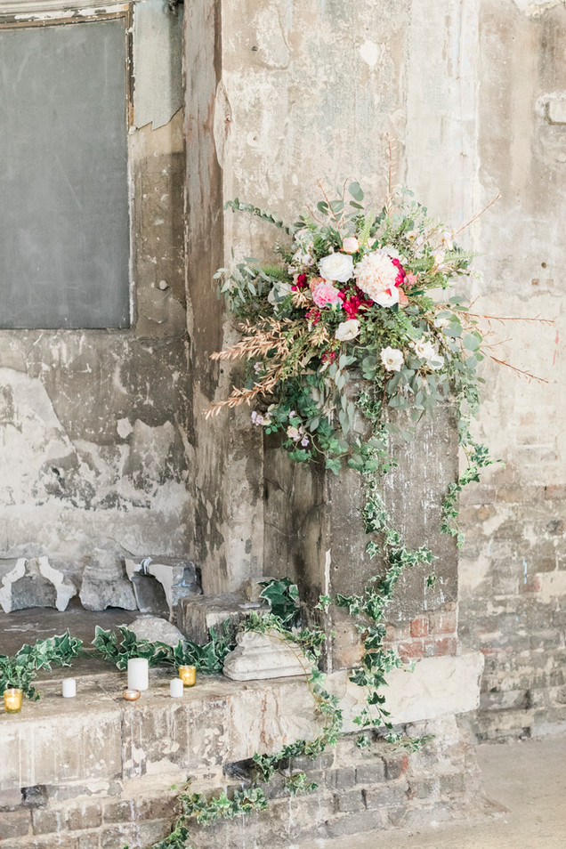 Faux Flower Ceremony Arrangement at Asylum London