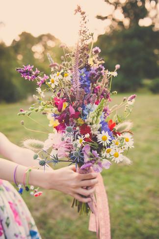 Bridesmaid Bouquet of Local Seasonal Flowers
