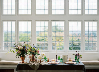Table Arrangements Using Local Seasonal Flowers