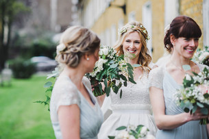 White and Green Wedding Flowers by Bohotanical