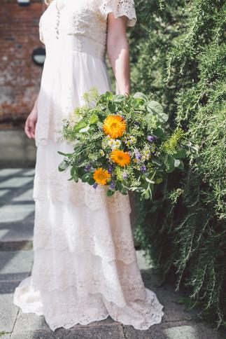Seasonal Herbal Bridal Bouquet
