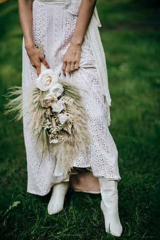 Faux and Dried Flower Bridal Bouquet