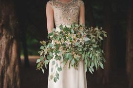 Informal Trailing Bouquet of Eucalyptus
