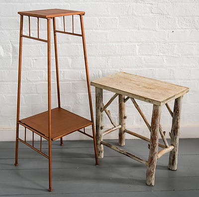 Flower Arrangement Pedestals and Tables for Hire