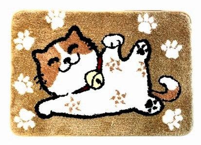 Flocking Floor Mat - Fortune Cat