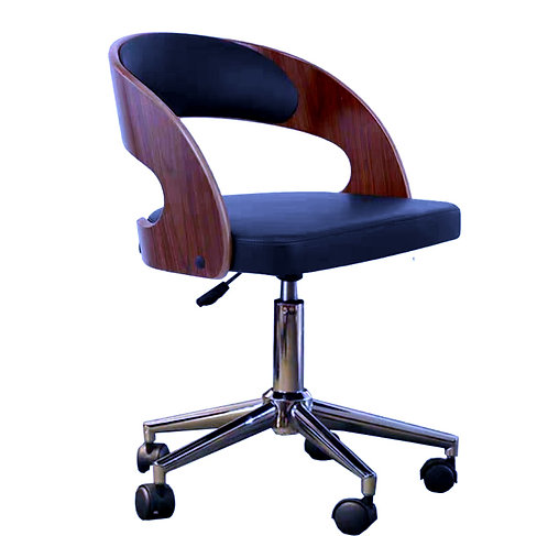 MIA III PU Leather Swivel Chair -Black $1,680 + Delivery $300