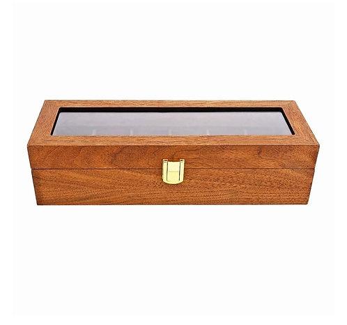 Solid Wood Watch Storage Box-Rosewood Grain