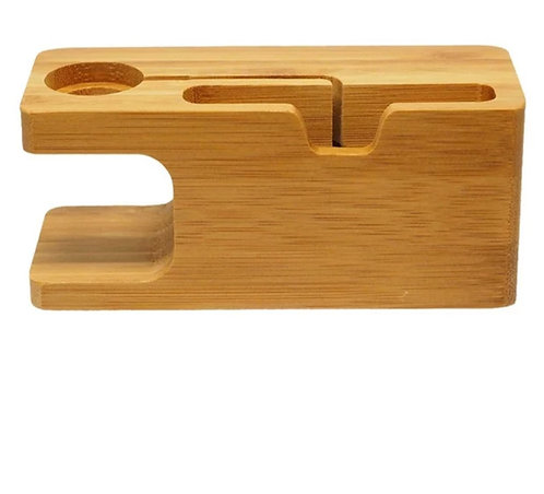 Bamboo iWatch & iPhone 2-in-1 Stand