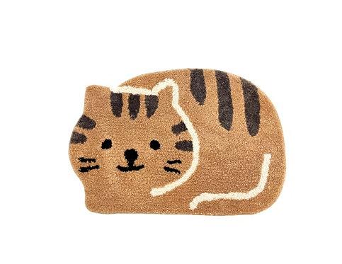 Flocking Floor Mat - Brown Cat