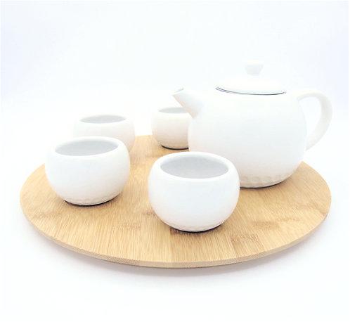 Bamboo Ceramic Teapot Set