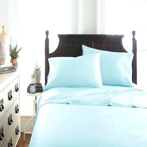 竹纖維床上用品四件套裝(6尺)-藍色