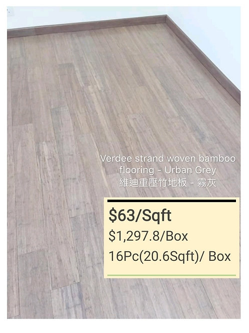 COLOUR Bamboo Flooring - URBAN GREY $63/sqft  $1297.8/Box + Delivery$300
