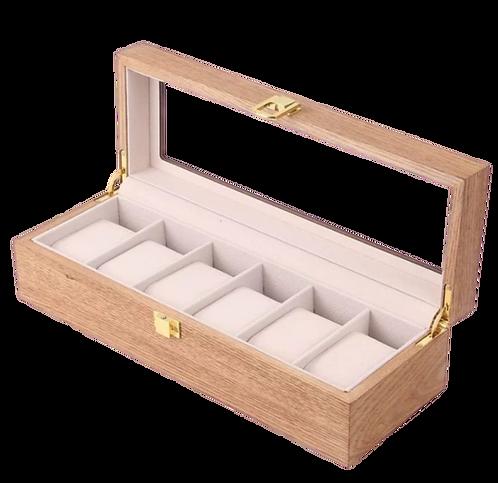 實木手錶收納盒-水曲柳紋
