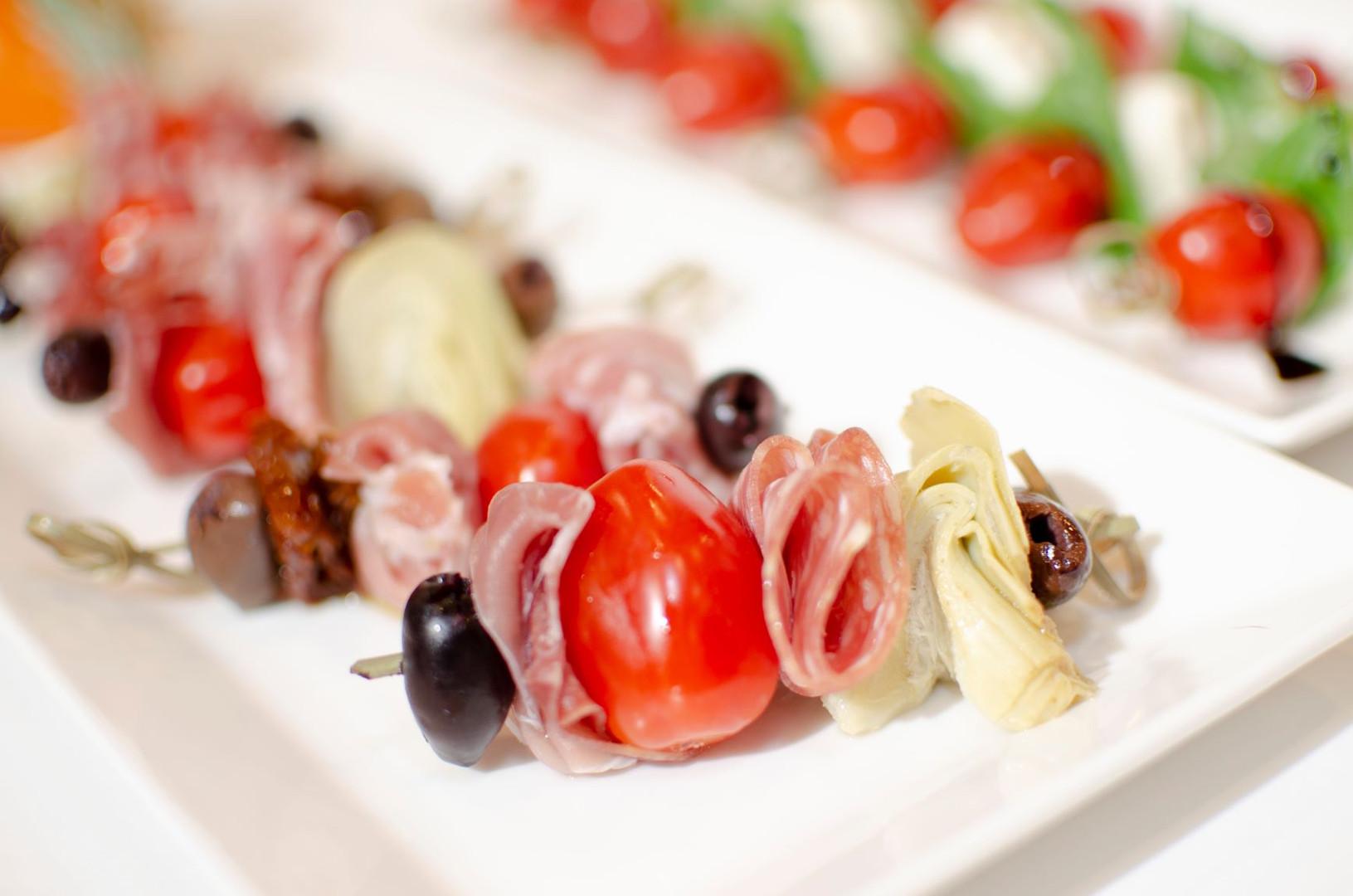 MJC MKTG Food Photography, Caprese and Antipasto Skewers