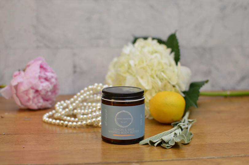 All Natural Lemon and Sage Whipped Body