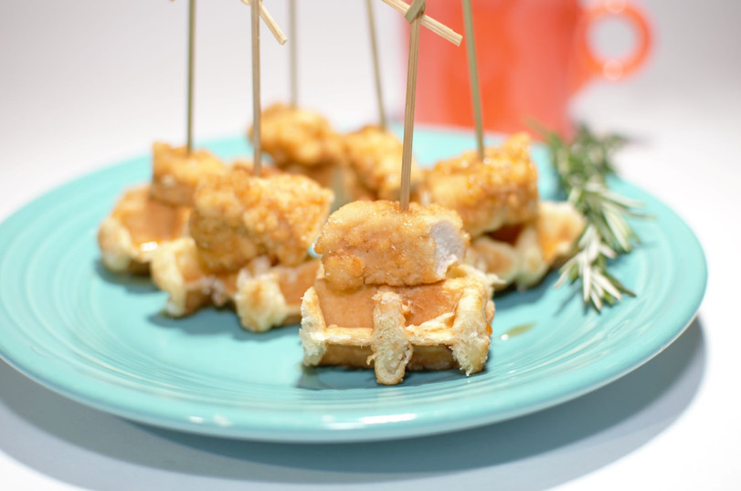 MJC MKTG Food Photography, Yola's Cafe, Chicken and Waffle Bites
