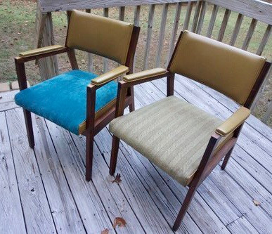 DIY | How to Reupholster Mid-Century Chairs