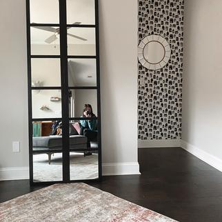DIY | Modern Paned Mirror