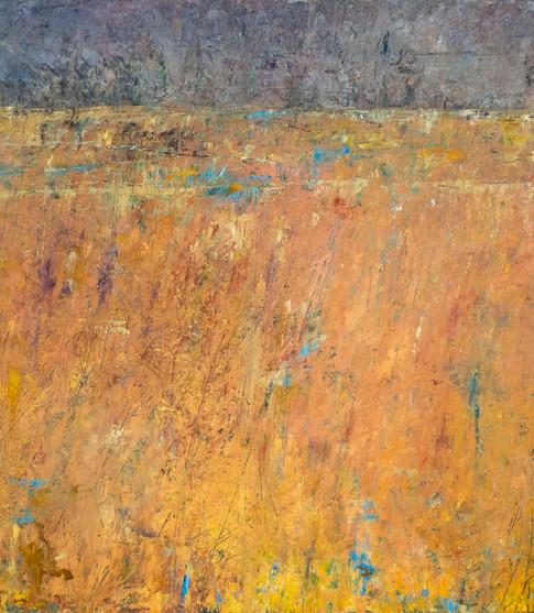'Inland Sea' 40 x 40 cm on Cradled Board