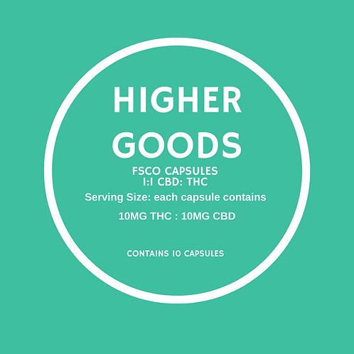 1:1 CBD:THC Capsule: 10 pack
