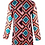 Thumbnail: Abito Multicolor Fantasia Geometrica - Denny Rose 821DD10026