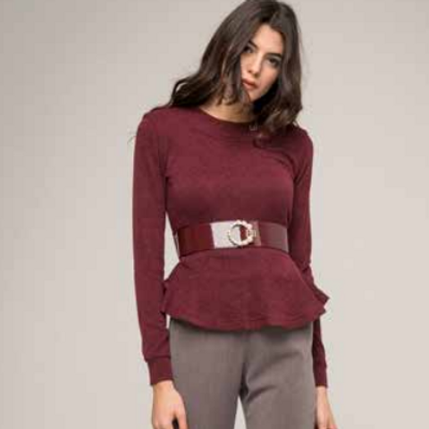 Maglia Rouge Fondo con Cintura Gioiello - Roberta Biagi