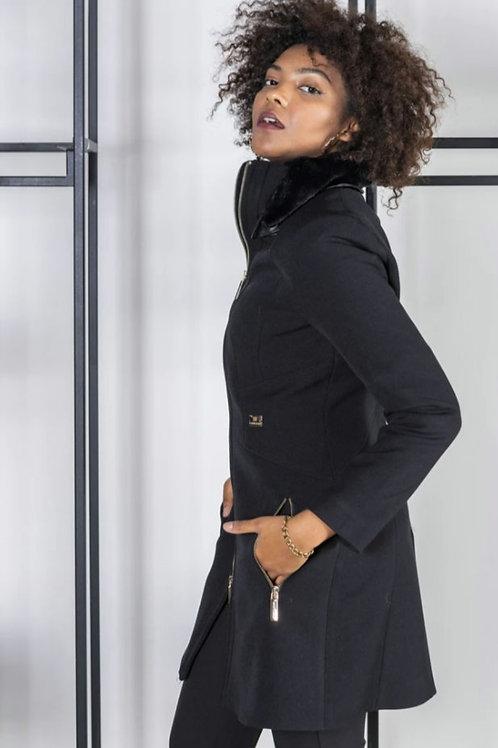Cappotto con collo eco removibile - Roberta Biagi