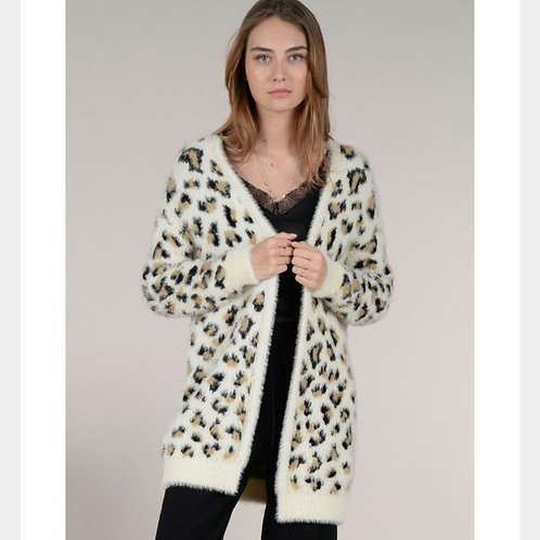 Cardigan Stampa Leopardo - Molly Bracken