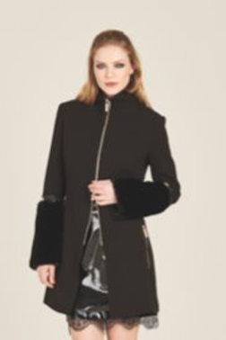 Cappotto Basic con Zip e Maniccotti Staccabili - Roberta Biagi