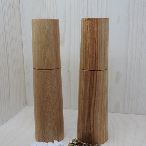Gewürzmühlen-Set mit Salz & Pfeffer im Mühlenkopf
