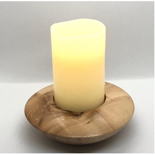 Kerzenhalter und LED Echtwachskerze