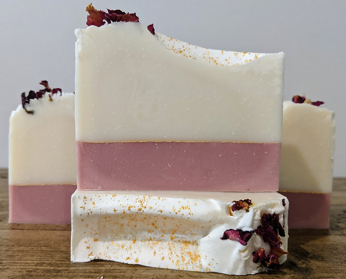 Rose Geranium Tripple Butter Luxury Soap Bar