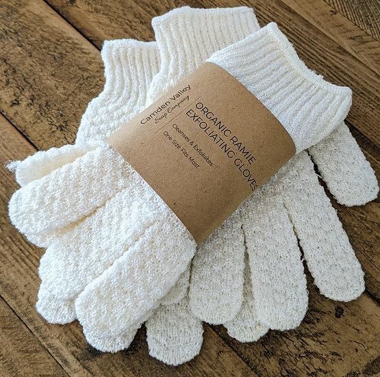 Organic Ramie Exfoliating Gloves