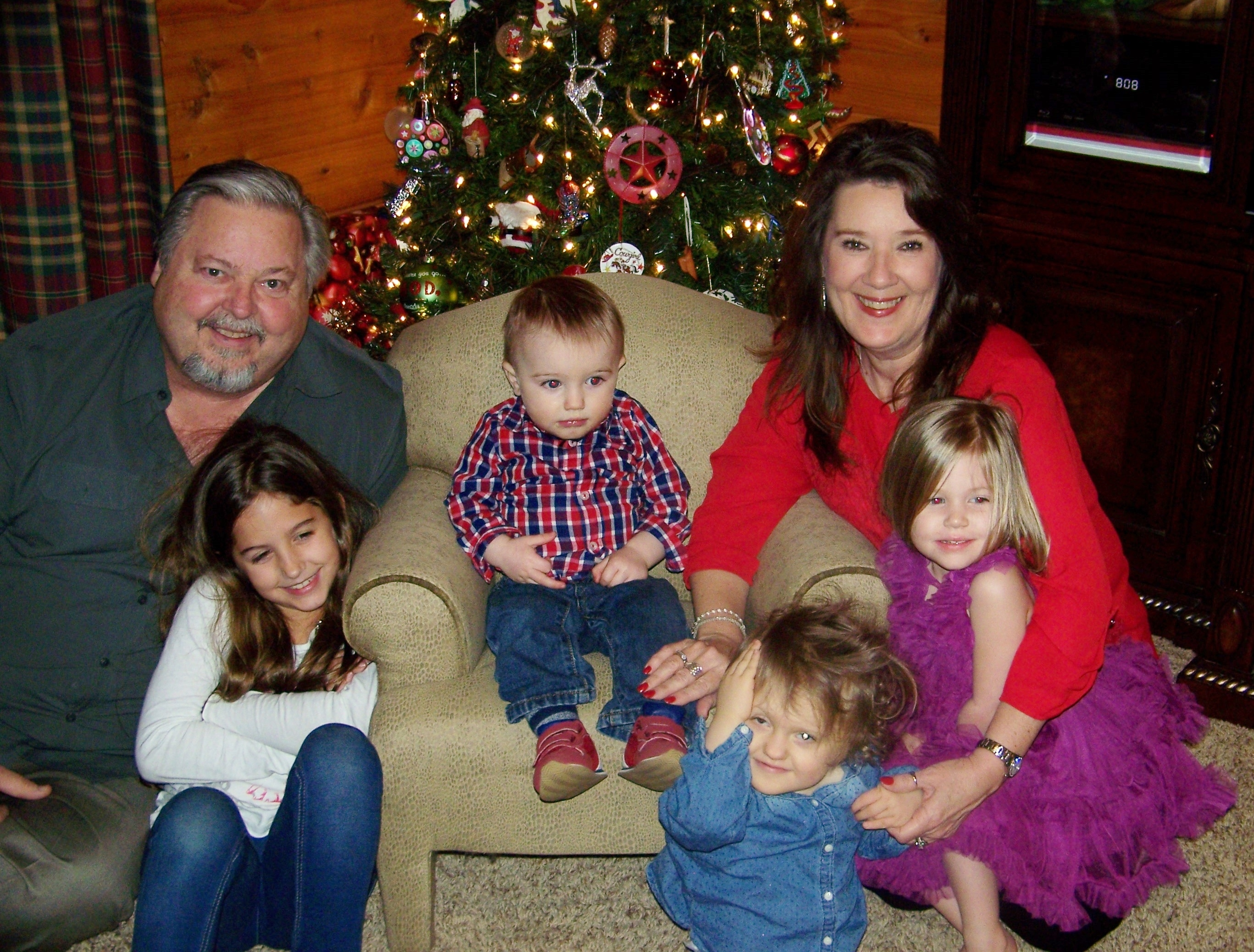 Christmas Photo with Grandkids