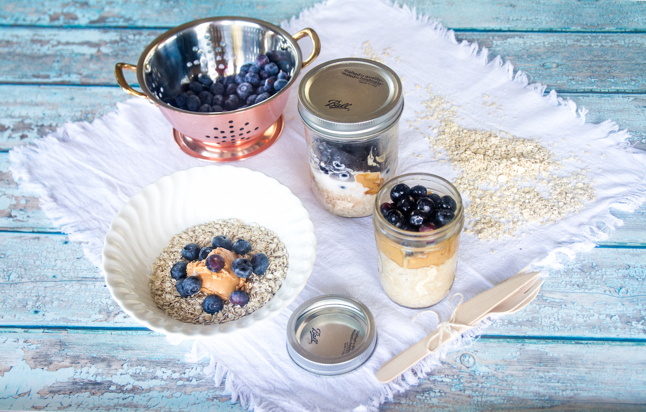 Blueberry Oat Peanut Jars