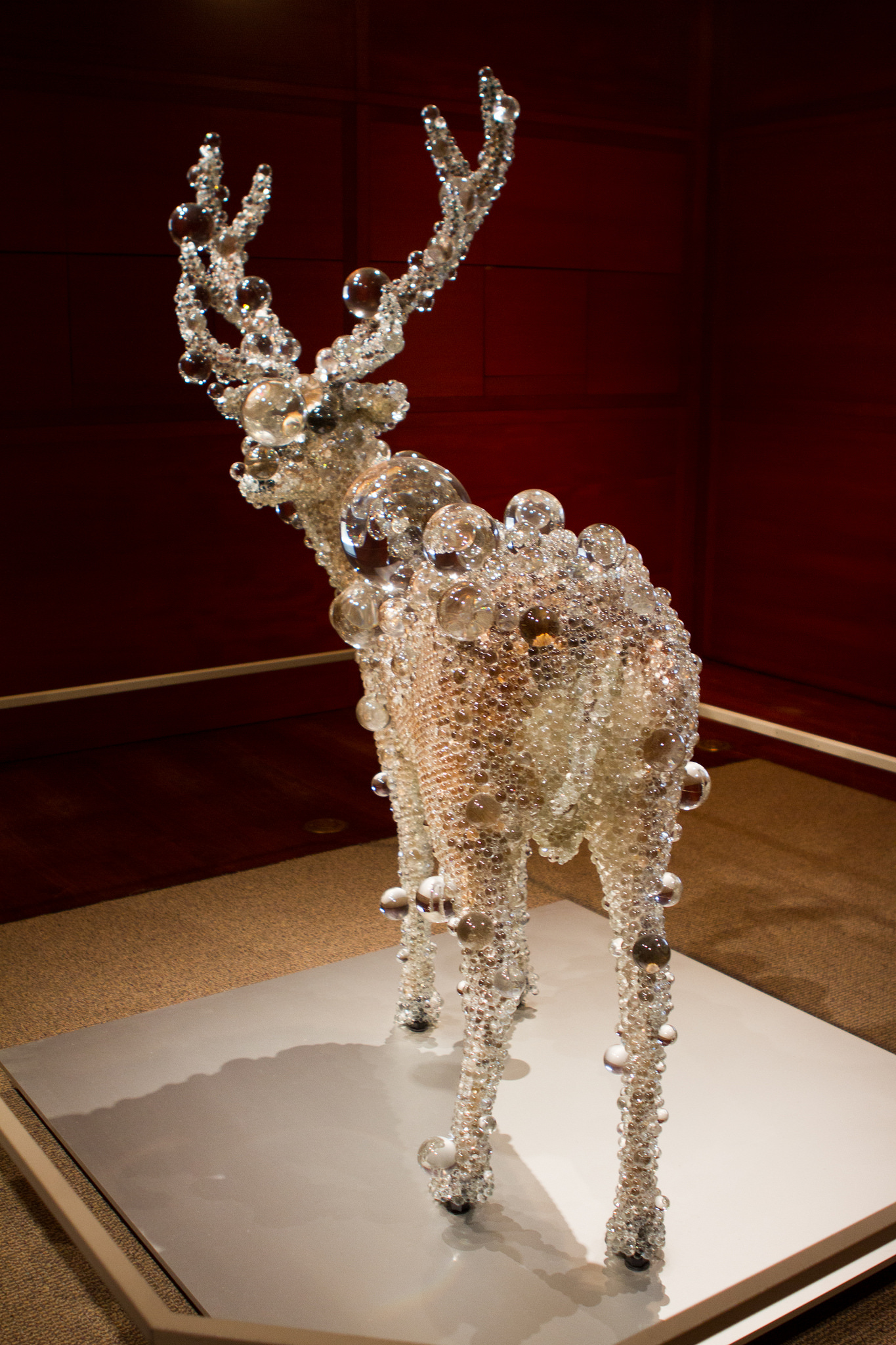 Taxidermied Deer in Glass, The Met