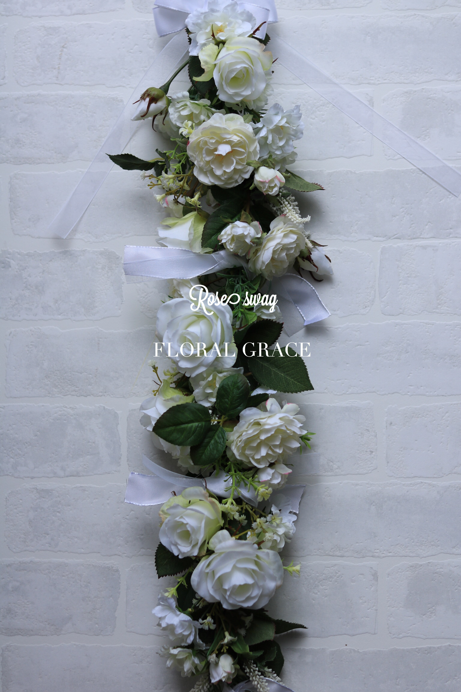 Rose swag  Wedding white