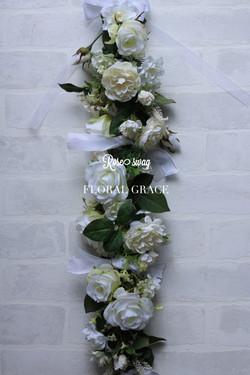 Rose swag  Wedding white