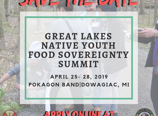 2019 GREAT LAKES NATIVE YOUTH FOOD SOVEREIGNTY SUMMIT