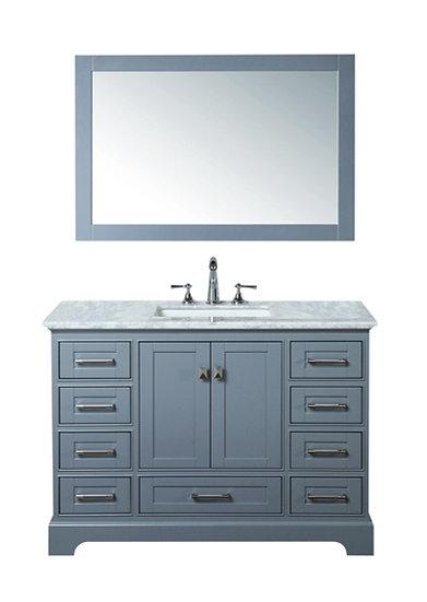 "Newport Grey 48"" Single Sink Vanity with Mirror"
