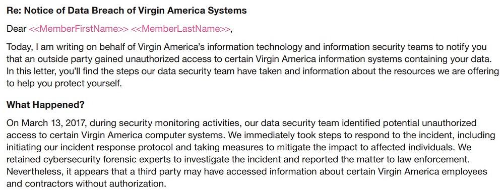 IAPP Sample Breach Email