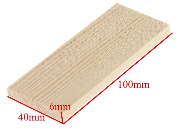 Pine Wood Panel 100 x 40 x 6 mm