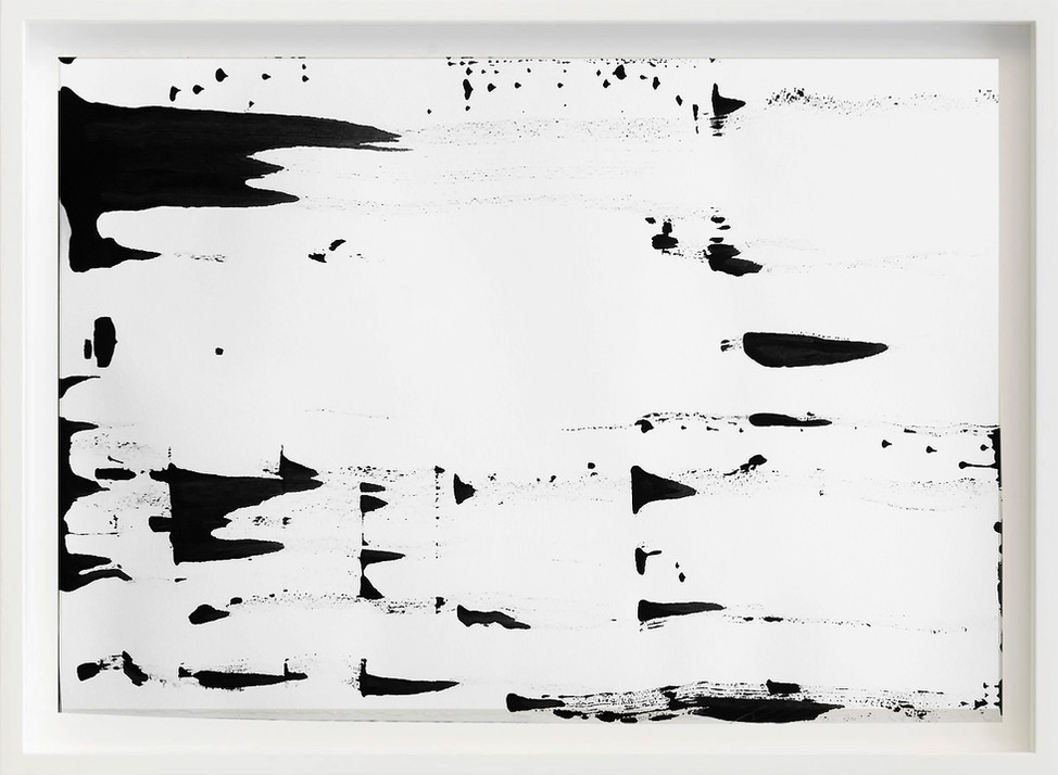 Black, 2017 sketch paper, ink, coated art paper 297mm x 21mm