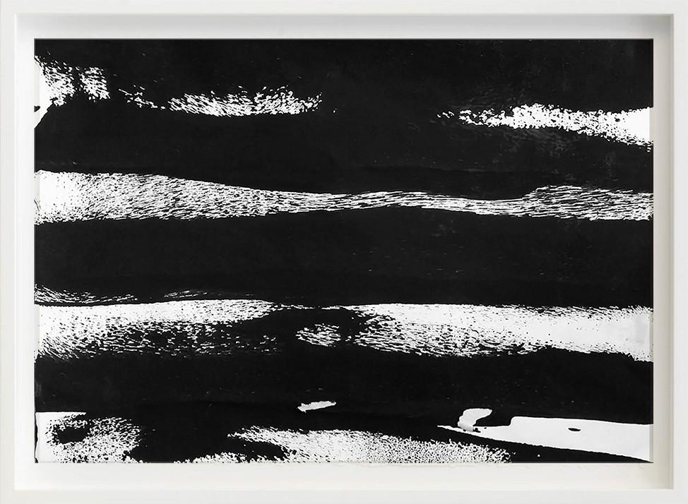 Black, 2017 sketch paper, ink, bench 297mm x 21mm