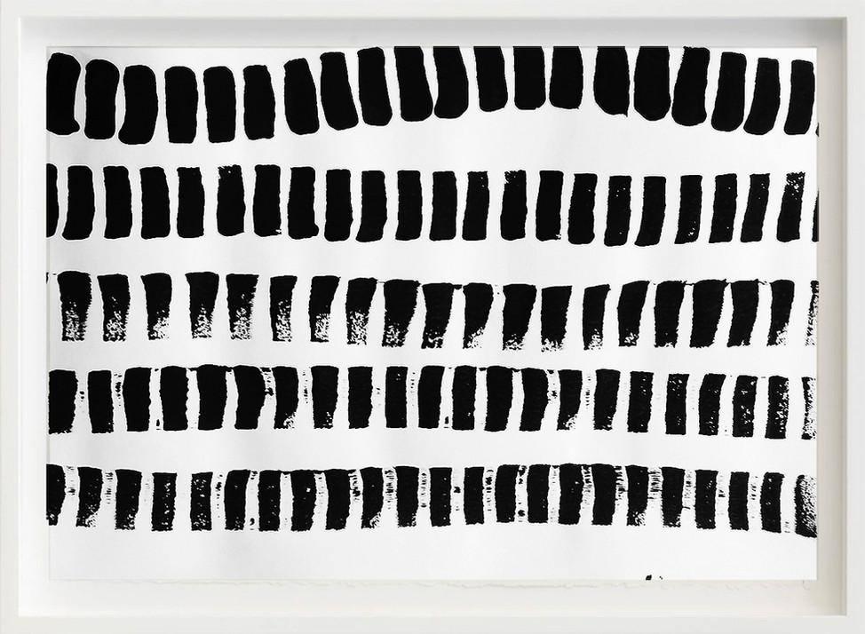 Black, 2017 sketch paper, ink, chopsticks 297mm x 21mm