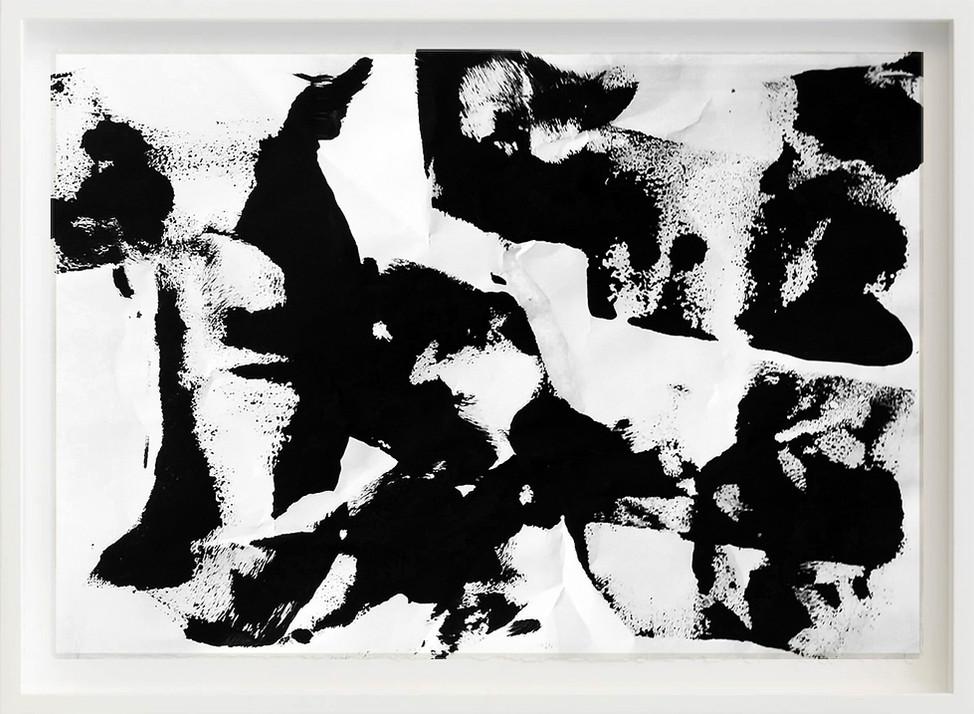 Black, 2017 sketch paper, ink, wood 297mm x 21mm