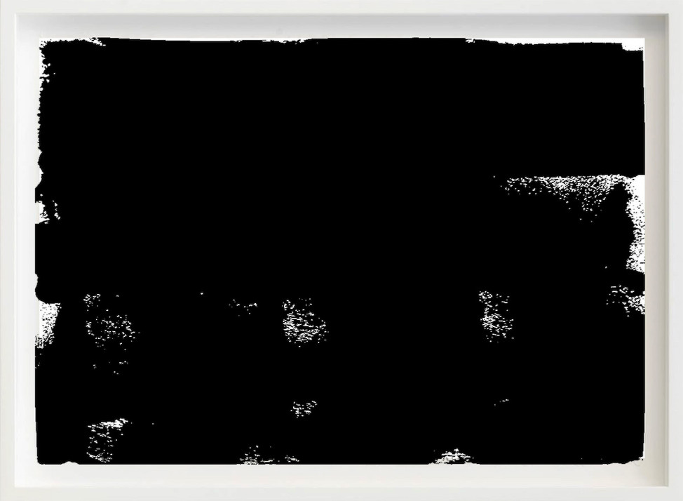 Black, 2017 sketch paper, ink, sofa 297mm x 21mm