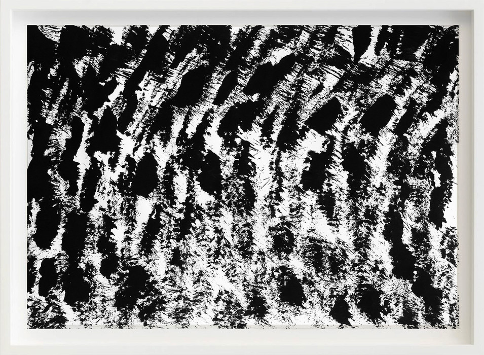 Black, 2017 sketch paper, ink, brush 297mm x 21mm