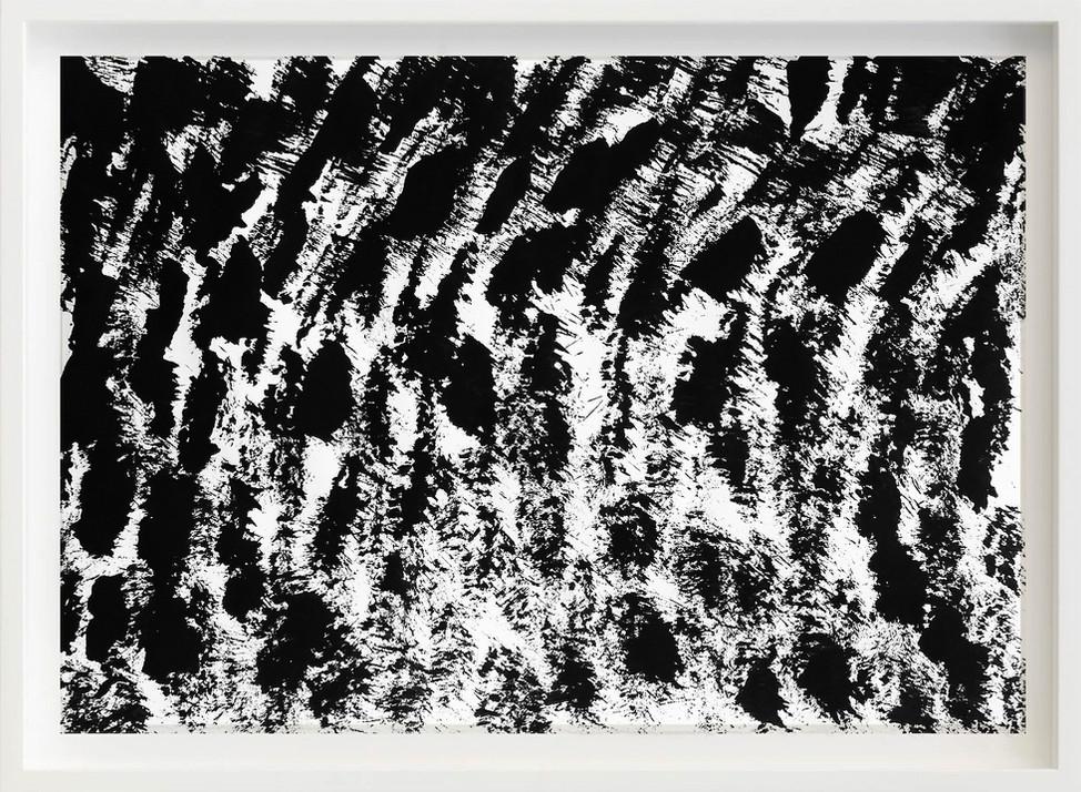 Black, 2017 sketch paper, ink, brush 297mm x 21mm