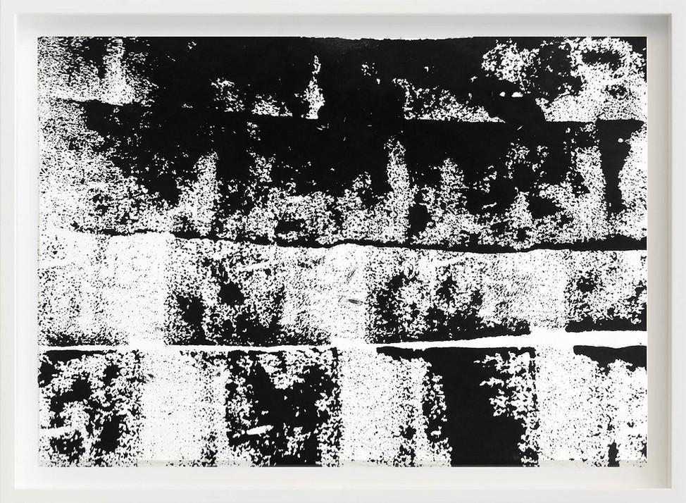 Black, 2017 sketch paper, ink, garbage can 297mm x 21mm